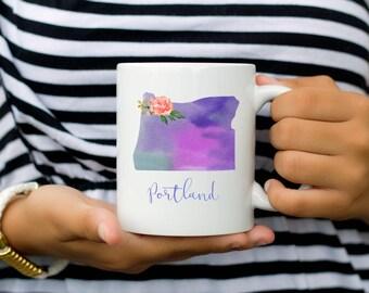 Portland Coffee Mug | Oregon Mug | City Mug | Location Mug | Gift for Her | Moving Gift | Portland Gift | Home Mug | Portlandia Mug