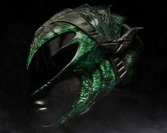2017 power rangers green ranger rita helmet cosplay prop