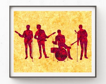 The Beatles, Digital Print, Wall Art, Home Decor, All You Need Is Love, Instant Download, Beatles, Printable Art, Art Print, Wall Decor