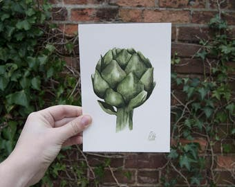 Globe Artichoke - Original watercolor painting