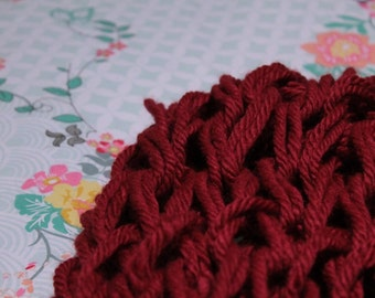Hand Knit Infinity Scarf || Custom Made Order || Cosy Winter Scarf