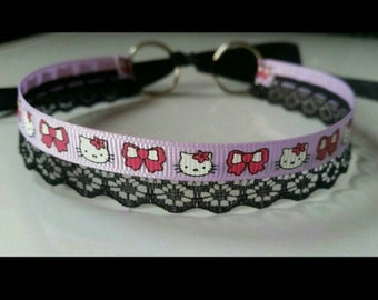 Custom, handmade Hello Kitty choker