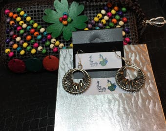 SALE Essential oil Purse and beaded earrings combo