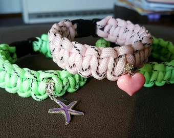 Paracord bracelets (glow in the dark)