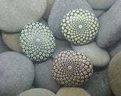 Mandala Stones - Set of 3 - Mandala Rocks- Peace - Love - Meditation