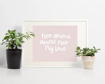 Mon amour - Brush Lettering A4 Print