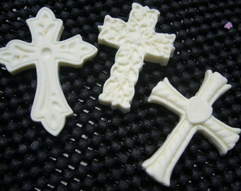 Three x Crosses. AUSTRALIAN MADE FONDANT Mold Co.  Made from Hi Quality Silicon, use with Fondant, SugarCraft, Elegant Cake Decorating