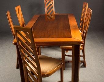 Dining table with 6 chairs- mahagony varnishded-BRAZIL