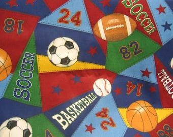 Sports Fabric Baseball Soccer Football Basketball Cotton 1 Piece