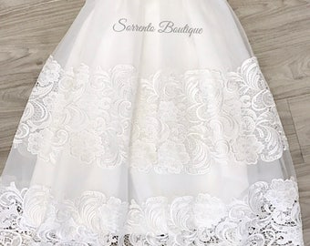 Bella Guipure Lace Christening Gown Baptism Special Occasion