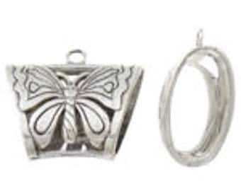 1 39x37x17mm Scarf Bail, Butterfly - Nickel, Lead and Cadmium Free - SKU 50805