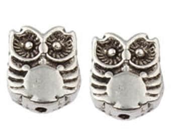 20 8x10mm Tibetan Style Spacer Beads - Nickel Free - SKU 56237 x 2
