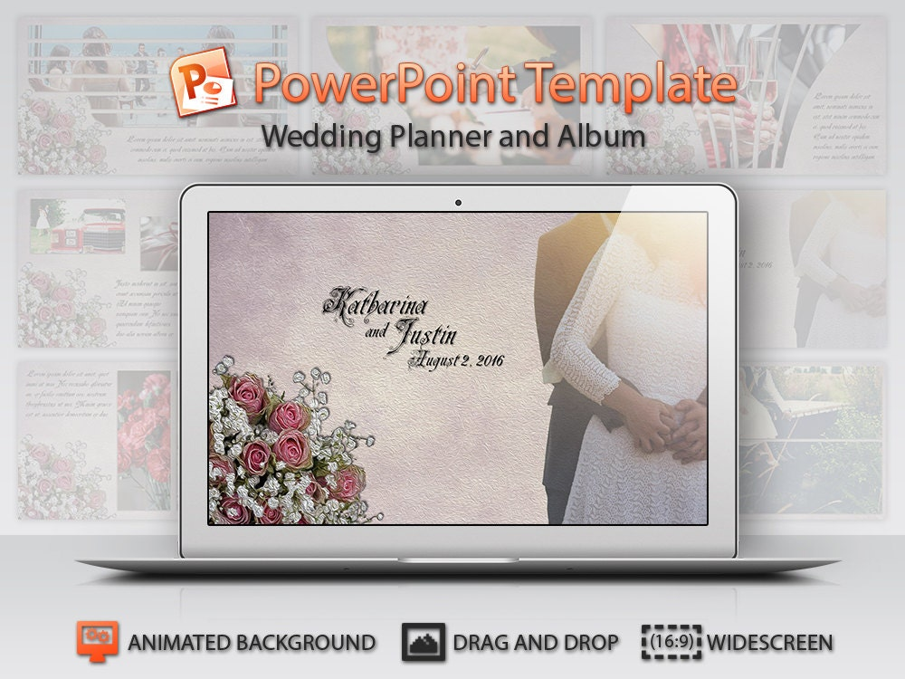 Wedding Powerpoint Template From Siedesign On Etsy Studio