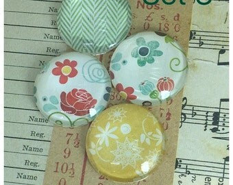 Magnets / Glass Magnets / Floral / Colorful / Gift / Party Favor