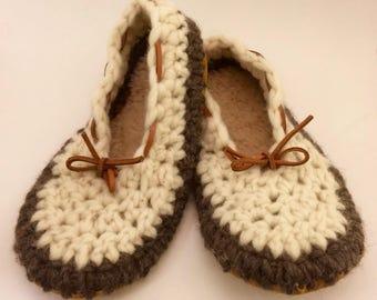 Womens slippers, Crochet slippers, ladies slippers, Spring/Summer slippers, wool slippers, slip on slippers, ballet slippers, EcoSoles