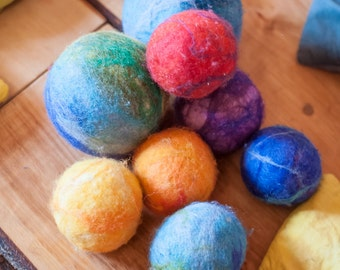Waldorf balls. Pure natural merino wool