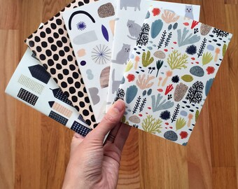 Pattern Pocket notebooks by Kate Pugsley