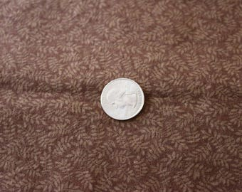 16 Brown and tan calico with fern pattern vintage