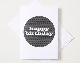 Greeting Card - Geo Circle / Traingles