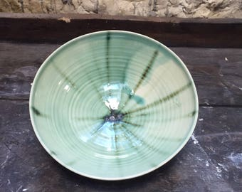 Small bowl stoneware tie and dye