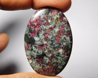Natural Eudialyte Cabochons Amazing Eudialyte Gemstone Top quality Handmade Eudialyte loose stone  65cts.(45X31)mm
