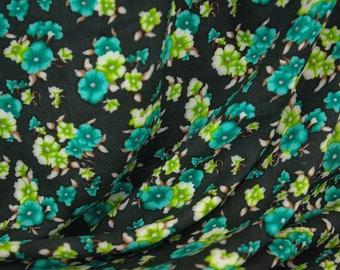Green Blossom Print Viscose