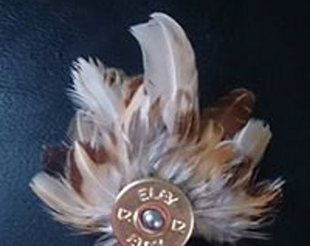 Quail Feather Brooch