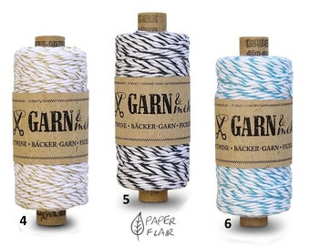 Baker yarn of bakers Twine cotton gold, black, turquoise 45 m (G)