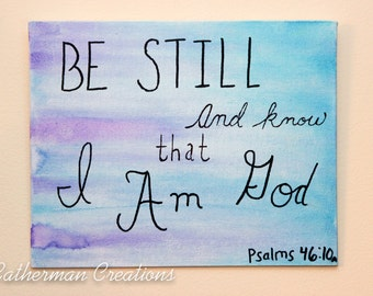 Scripture Canvas-Psalms 46:10-8x10