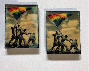 Gay Pride Coasters, Rainbow Flag Coasters, Gay Party Supplies, Gay Gifts, Gay Pride, Gay Gifts, Gay Serving Coasters, Gay Party Supplies