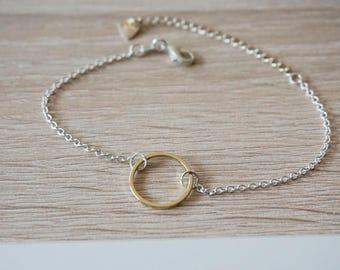 Bracelet infinite circle eternity - gold silver