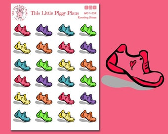 Running Shoes Planner Stickers - Running - Run Planner Stickers - Workout Stickers - Gym Stickers - Fitness Stickers - Exercise - [WO 1-23R]