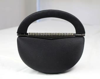 Vintage Rodo Black Fabric Clutch