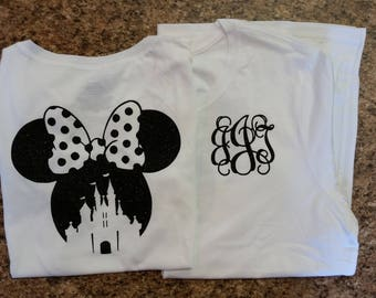 Disney Castle with Initials Shirt/Tank