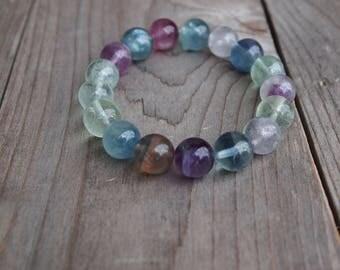 10mm Fluorite bracelet