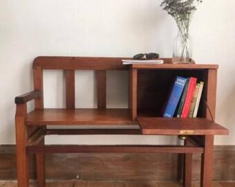 Vintage telephone bench