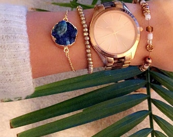 Druzy Agate Crystal Bracelet