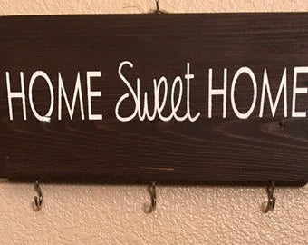 Home Sweet Home key holder, key rack, entry way key holder