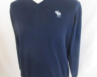 Sweater Abercrombie & Fitch blue size M to-56%