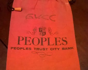 Peoples Trust City Bank PA Canvas Bag