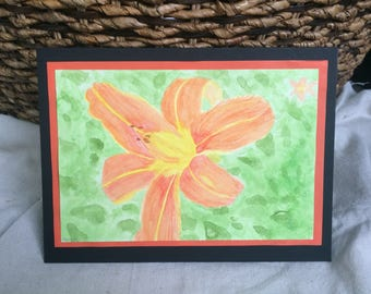 Watercolor Tiger Lilly