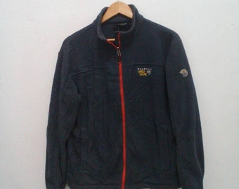 Mountain hardwear fleece jacket men sz large L vintage gray
