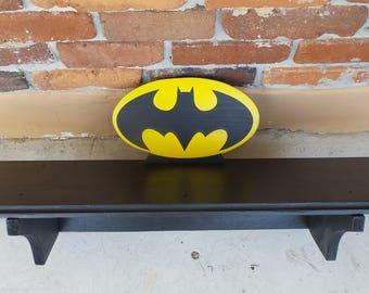 Batman Shelf Boys Kid Child Superhero Bookshelf DC Comics The Dark Knight Justice League Home and Living Decor  Man Cave Fathers Day