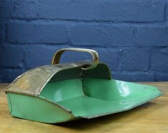 1930's Green Tin Dustpan