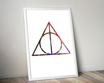 Harry Potter / Harry Potter Print / Hogwarts Castle / Large poster Sizes / Watercolor Print / Watercolor Poster / Dumbledore Quote