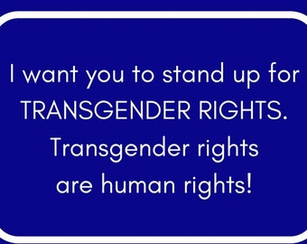 Send Progressive Postcards to Your Congress People about Transgender Rights