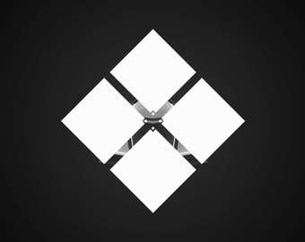 Geometric kaleidoscope logo, Video Intro or Outro
