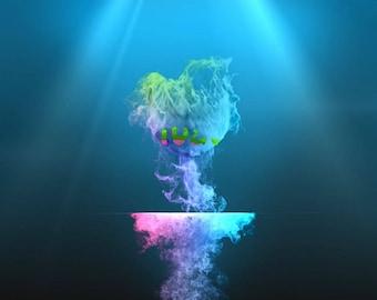 Smoke abstraction, End screen video intro or outro