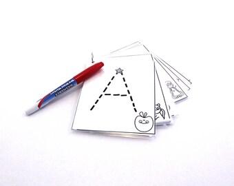 Alphabet ABC Trace Montessori Busy Bag