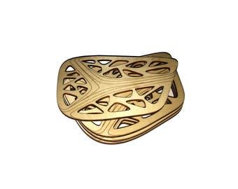 Lasercut wood coasters,